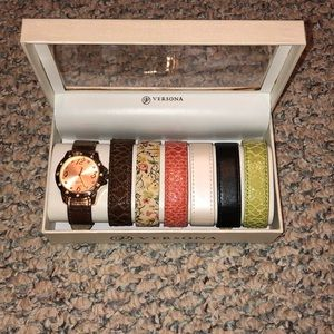 A Watch with Interchangeable Bands